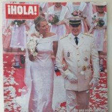 Coleccionismo de Revista Hola: REVISTA HOLA N°3493 JULIO 2011 BODA ALBERTO DE MÓNACO. Lote 171132952
