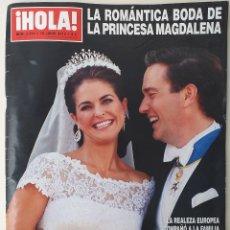 Coleccionismo de Revista Hola: REVISTA HOLA N°3594 JUNIO 2013 BODA PRINCESA MAGDALENA. Lote 171133212