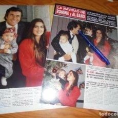 Coleccionismo de Revista Hola: RECORTE : LA NAVIDAD DE AL BANO Y ROMINA POWER. HOLA, ENERO 1988 (). Lote 171402667