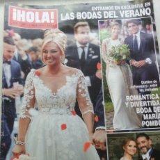 Coleccionismo de Revista Hola: HOLA NÚMERO 3909. 3 JULIO 2019. BODA BELÉN ESTEBAN. AGOTADO.. Lote 171418797