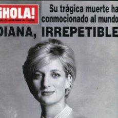 Coleccionismo de Revista Hola: HOLA DIANA DE GALES IRREPETIBLE 11 DE SEPTIEMBRE DE 1997 MUY NUEVA. Lote 171779490
