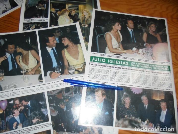 RECORTE : JULIO IGLESIAS Y GIANINA FACCIO, SALEN A DIVERTIRSE. HOLA, MARZO 1982 () (Coleccionismo - Revistas y Periódicos Modernos (a partir de 1.940) - Revista Hola)