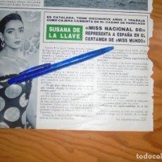 Collectionnisme de Magazine Hola: RECORTE : SUSANA DE LA LLAVE, MISS NACIONAL 1988 . HOLA, NVMBRE 1988 (). Lote 172364252