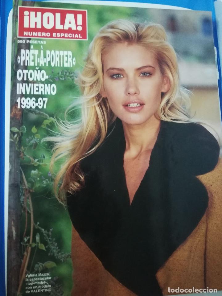 HOLA PRET-A-PORTER 1996 VALERIA MAZZA JUDIT MASCÓ VICTORIA SILVSTEDT KATE MOSS REVISTA MODA (Coleccionismo - Revistas y Periódicos Modernos (a partir de 1.940) - Revista Hola)
