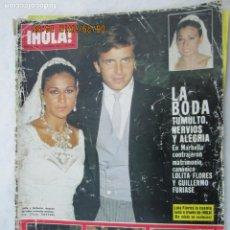 Coleccionismo de Revista Hola: REVISTA HOLA Nº 2037 - SEPTIEMBRE 1983 - BODA DE LOLITA Y GUILLERMO FURIASE.... Lote 172915242