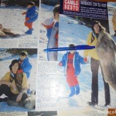 Coleccionismo de Revista Hola: RECORTE : CAMILO SESTO, NAVIDADES CON SU HIJO. HOLA, ENERO 1988 (). Lote 173046050