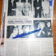 Coleccionismo de Revista Hola: RECORTE : ISABEL PANTOJA Y LOLITA, COINCIDEN EN BODA. SEMANA, ABRIL 1990 (). Lote 173122102