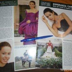 Collectionnisme de Magazine Hola: RECORTE : ESPERANZA CAMPUZANO, REINA DEL TURISMO DE ESPAÑA. HOLA, FBRERO 1988 (). Lote 173191840
