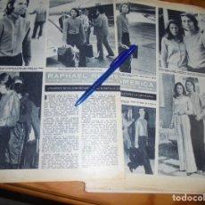 Coleccionismo de Revista Hola: RECORTE : RAPHAEL REGRESA DE AMERICA. HOLA, JUNIO 1972 (). Lote 173520003
