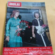 Coleccionismo de Revista Hola: HOLA N º1368-REINA ANA Mª DE GRCIA/PRINCESA SOFIA-GRACIA DE MONACO-JAQUELINE/ARISTOTELES ONASIS.1970. Lote 173670019