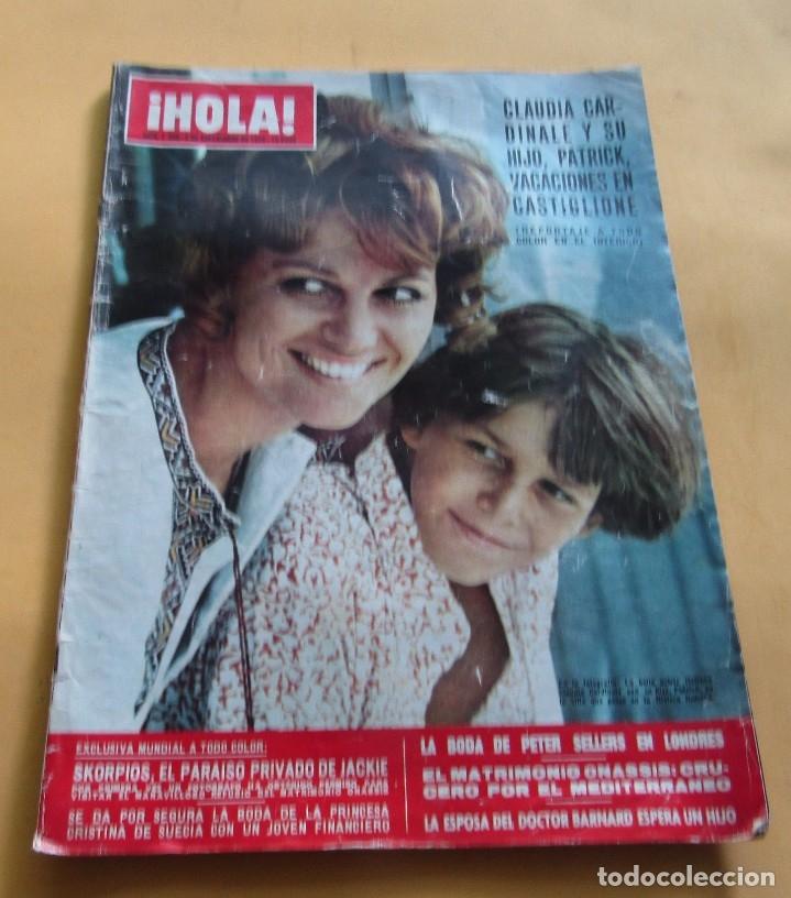 HOLA N º1358 - CLAUDIA CARDINALE - SKORPIOS PARAISO DE JAKCIE ONASIS - PETER SELLERS BODA-SEP..1970 (Coleccionismo - Revistas y Periódicos Modernos (a partir de 1.940) - Revista Hola)