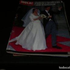 Coleccionismo de Revista Hola: REVISTA HOLA EN ESTADO ACEPTABLE 2642 30 MARZO 1995 BODA INFANTA ELENA. Lote 173677663