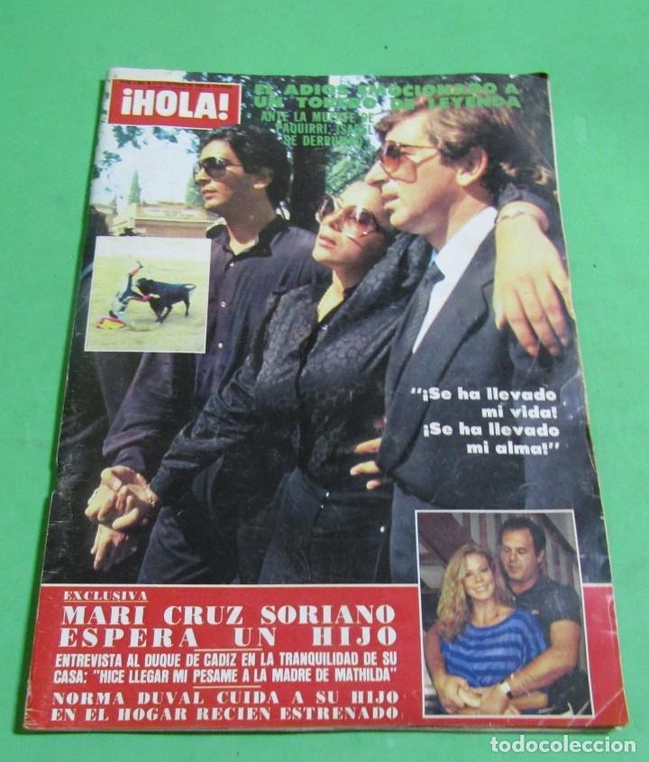 HOLA N º 2094 - ISABEL PANTOJA REPORTAJE SOBRE LA VIDA Y ENTIERRO DE PAQUIRRI + 100 FOTOS OCT. 1984 (Coleccionismo - Revistas y Periódicos Modernos (a partir de 1.940) - Revista Hola)