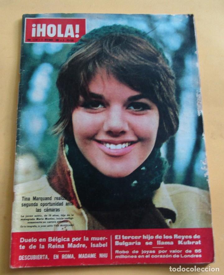 HOLA Nº 1110 - KIM NOVAK - TINA MARQUAND - TONI LEBLANC -JANE ASHER NOVIA DE PAUL MCCARTNEY - 1965 (Coleccionismo - Revistas y Periódicos Modernos (a partir de 1.940) - Revista Hola)
