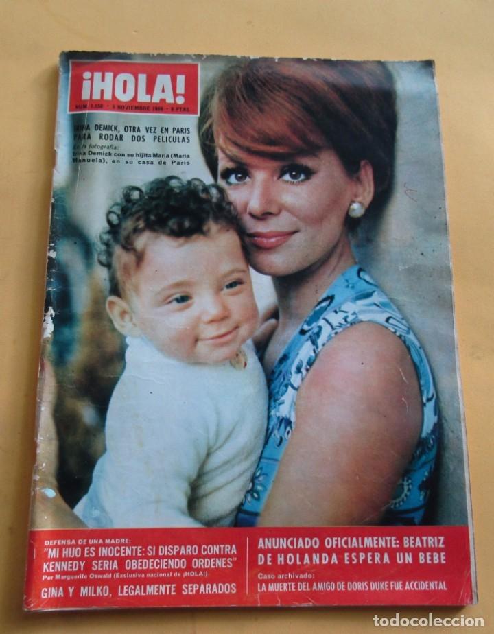 HOLA Nº 1158 - IRINA DEMICK - MARGARITA DE DINAMARCA - SHIRLEY MAC LAINE - BRIGITTE BARDOT NOV. 1966 (Coleccionismo - Revistas y Periódicos Modernos (a partir de 1.940) - Revista Hola)