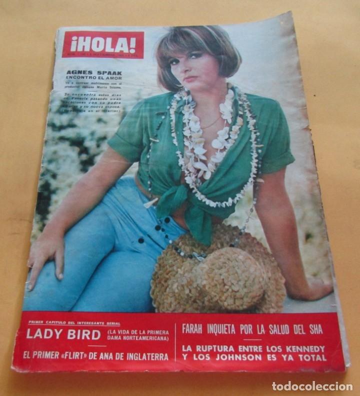 HOLA Nº 1149 - AGNES SPAAK - LADY BIRD - AUDREY HEPBURN - DAVID NIVEN Y SU FAMILIA - SEPTIEMBRE 1966 (Coleccionismo - Revistas y Periódicos Modernos (a partir de 1.940) - Revista Hola)