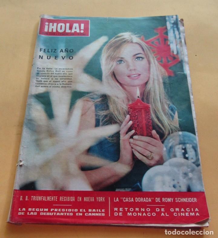 HOLA Nº 1114 - BETSY BELL - LA BEGUM - ROMY SCHNEIDER - GRACIA DE MONACO -CASILDA VARELA -ENERO 1966 (Coleccionismo - Revistas y Periódicos Modernos (a partir de 1.940) - Revista Hola)