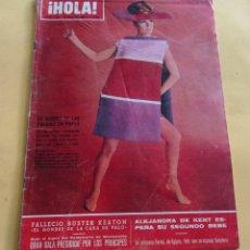 Coleccionismo de Revista Hola: HOLA Nº 1120 -BUSTER KEATON FALLECIO - JACKELINE KENNEDY - EN VIA VENETO - LA PEQUEÑA ESTEFANIA 1966. Lote 173831415