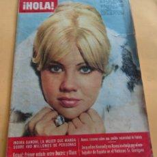 Coleccionismo de Revista Hola: HOLA Nº 1119 - INDIRA GANDHI - JACQUELINE KENNEDY- HAYLEY MILLS - GALA DEL CINE EN LONDRES-FEBR.1966. Lote 173832014