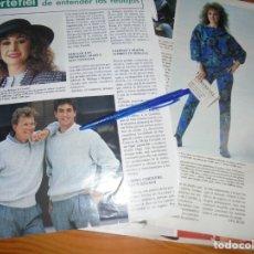 Coleccionismo de Revista Hola: RECORTE : VICTORIA VERA, PUBLICIDAD CORTEFIEL. HOLA, DCBMBRE 1985 (). Lote 173845103