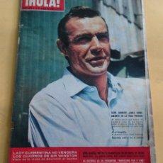 Coleccionismo de Revista Hola: HOLA Nº 1072 - SEAN CONNERY - CARMEN CERVERA MIS ESPAÑA/LEX BARKER - MARGARITA DE DINAMARCA - 1965. Lote 173856118