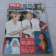 Coleccionismo de Revista Hola: HOLA Nº 2340 -ROCIO JURADO EN EL CARIBE 5 PAGINAS 9 FOTO- RICHARD DEAN (MCGYVER) 3 PAG. 7 FOT. -1989. Lote 173992092