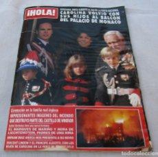 Coleccionismo de Revista Hola: HOLA Nº2521 CAROLINA DE MONACO -WINDSOR ARDE-ESPARTACO 5 PAG.9 FOT.-DEMIS ROUSSOS 6 PAG.12 FOT- 1992. Lote 173993237