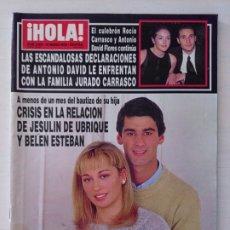 Coleccionismo de Revista Hola: CTC - REVISTA HOLA 2903 - JESULIN DE UBRIQUE Y BELEN ESTEBAN - CRISIS EN LA RELACION - AÑO 2000. Lote 174026648