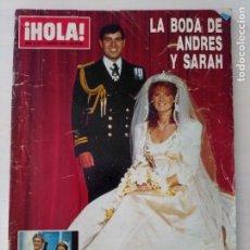 Coleccionismo de Revista Hola: CTC - REVISTA HOLA 2189 - LA BODA DE ANDRES Y SARAH - AÑO 1986. Lote 183687116