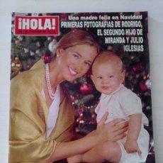 Coleccionismo de Revista Hola: CTC - REVISTA HOLA 2890 - JULIO IGLESIAS Y MIRANDA - SEGUNDO HIJO - AÑO 1999. Lote 174030905