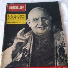 Coleccionismo de Revista Hola: 9-REVISTA HOLA, VIDA Y MUERTE DE SU SANTIDAD EL PAPA JUAN XXIII, Nº 980, 1963. Lote 174064442