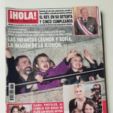 Coleccionismo de Revista Hola: REVISTA HOLA Nº 3572. 16 ENERO 2013. LAS INFANTAS LEONOR Y SOFIA, IMAGEN DE LA ILUSION. TDKR64. Lote 174205789