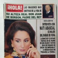 Coleccionismo de Revista Hola: REVISTA HOLA Nº 2537. 25 MARZO 1993. NATI ABASCAL/ISABEL SARTORIUS/D. JUAN DE BORBON TDKR64. Lote 174205847