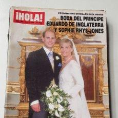 Coleccionismo de Revista Hola: REVISTA HOLA Nº 2864.1 DE JULIO 1999. BODA PRINCIPE EDUARDO DE INGLATERRA Y SOPHIE RHYS-JONES TDKR64. Lote 174205913