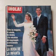 Coleccionismo de Revista Hola: REVISTA HOLA Nº 2775. 16 OCTUBRE 1997. BODA DE LA INFANTA CRISTINA E IÑAKI URDANGARIN. TDKR64. Lote 174206332
