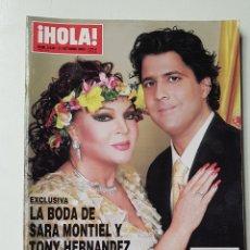 Coleccionismo de Revista Hola: REVISTA HOLA Nº 3038. 31 OCTUBRE 2002. BODA DE SARA MONTIEL Y TONY HERNANDEZ. TDKR64. Lote 174206630