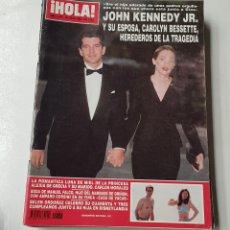 Coleccionismo de Revista Hola: REVISTA HOLA Nº 2860. 29 JULIO 1989. JOHN KENNEDY JR. Y SU ESPOSA CAROLYN BESSETTE TRAGEDIA. TDKR64. Lote 174206692
