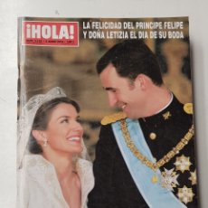 Coleccionismo de Revista Hola: REVISTA HOLA Nº 3122. 3 JUNIO 2004. LA FELICIDAD DEL PRINCIPE FELIPE Y DÑA LETICIA. BODA TDKR64. Lote 174206828