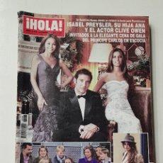 Coleccionismo de Revista Hola: REVISTA HOLA Nº 3466 . 5 ENERO 2011. ISABEL PREYSLER, SU HIJA ANA Y CLIVE OWEN CENA GALA. TDKR64. Lote 174206937