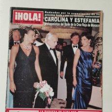 Coleccionismo de Revista Hola: REVISTA HOLA Nº 3466 . 20 AGOSTO 1998. CAROLINA Y ESTEFANIA MONACO EN EL BAILE DE LA ROSA TDKR64. Lote 174207074
