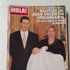 Coleccionismo de Revista Hola: REVISTA HOLA Nº 2889 . 23 DICIEMBRE 1999. BAUTIZO DE JUAN VALENTIN URDANGARIN. TDKR64. Lote 174207150