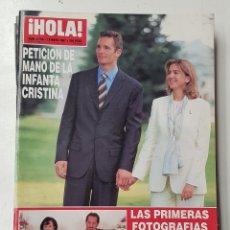 Coleccionismo de Revista Hola: REVISTA HOLA Nº 2753. 15 MAYO 1997. PETICION DE MANO DE LA INFANTA CRISTINA. TDKR64. Lote 174207190