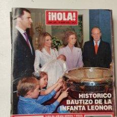 Coleccionismo de Revista Hola: REVISTA HOLA Nº 3208 . 25 ENERO 2006. HISTÓRICO BAUTIZO DE LA INFANTA LEONOR. TDKR64. Lote 174207352