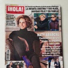 Coleccionismo de Revista Hola: REVISTA HOLA Nº 3571 . 9 ENERO 2013. NATY ABASCAL. CONFESIONES DE UNA MUJER INCANSABLE. TDKR64. Lote 174207419