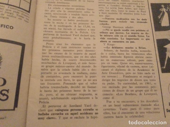 Coleccionismo de Revista Hola: ANTIGUA REVISTA HOLA Nº 1202 AÑO 1967 EL MANAGER DE LOS BEATLES MUERTO, MIA FARROW, ROMINA POWER - Foto 3 - 174395540