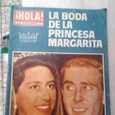 Coleccionismo de Revista Hola: ANTIGUA REVISTA HOLA BODA PRINCESA MARGARITA . Lote 174535763