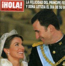 Coleccionismo de Revista Hola: REVISTA HOLA - BODA REAL DEL PRÍNCIPE FELIPE CON DOÑA LETIZIA. Lote 175082540