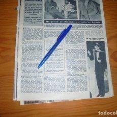 Coleccionismo de Revista Hola: RECORTE : TONY RENIS, VENCEDOR DEL XIII FESTIVAL DE SAN REMO . HOLA, FBRERO 1963 (). Lote 175346929
