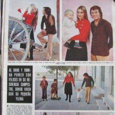 Coleccionismo de Revista Hola: RECORTE REVISTA HOLA Nº 1437 1972 AL BANO Y ROMINA POWER. Lote 175422248