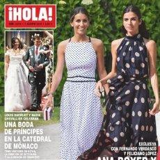 Coleccionismo de Revista Hola: REVISTA HOLA 3914. BODA DE PRINCIPES EN LA CATEDRAL DE MÓNACO. ANA BOYER Y SANDRA GAGO. Lote 175428600